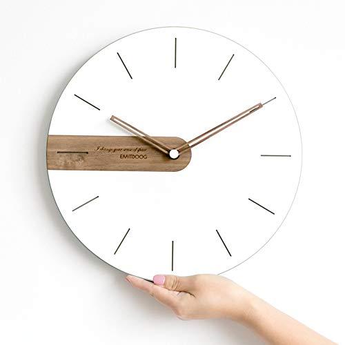 XFF Reloj de Pared, Minimalista Moderno, Reloj de Pared Nórdico, Sala de Estar, Arte, Reloj de Casa, Creativo, Personalidad, Reloj de Moda,C,14 Pulgadas