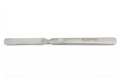 Blizzard - Râpe à pieds de podologie - Outil solide professionnel double face de 20cm approuvé CE en acier inoxydable