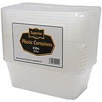 Plástico Microondas congelador seguro de Alimentos envases y tapas (650ml)