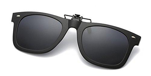 Sonnenbrille Aufsatz, DAUCO Clip on Polarisiert Clip polarisierte Sonnenbrille Flip up Sonnenbrille Clip Gegen Licht für Frauen und Männer