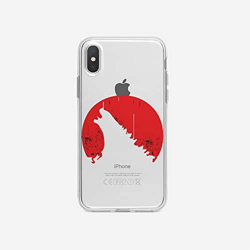 licaso Apple iPhone X Handyhülle Smartphone Apple Case aus TPU mit Big Monster Film Print Motiv Slim Design Transparent Cover Schutz Hülle Protector Soft Aufdruck Lustig Funny Druck (Godzilla Original Filme)