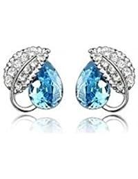 Smart Sheet Turquoise Elements Crystal Earrings