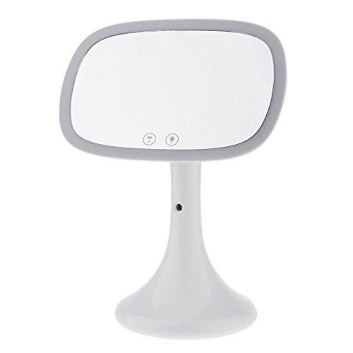 Führte Make-upspiegel 180 ° justierbare Rotation, 37 LED-Lichter, Countertop-Desktop-Kosmetik-Spiegel-Wasser-Nebel,White