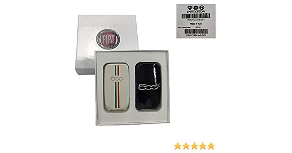 Original Fiat 500x Schlüsselcover Weiß Mit Italien Flagge Schwarz Auto
