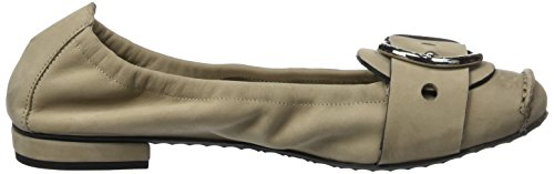 Kennel And Schmenger Shoe Manufactory Ladies Malu Chiuso Ballerine Beige (taupe / Argento)
