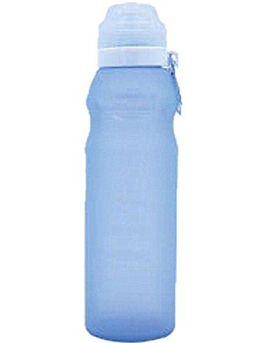 Ammon Lowen Faltbare Silikon Trinkflasche 1000 ml (35 Unzen) Wiederverwendbare Silikon Flasche Grade Trinkflaschen zum Radfahren, Fahrradfahren, Camping, Reisen BPA frei (blau)
