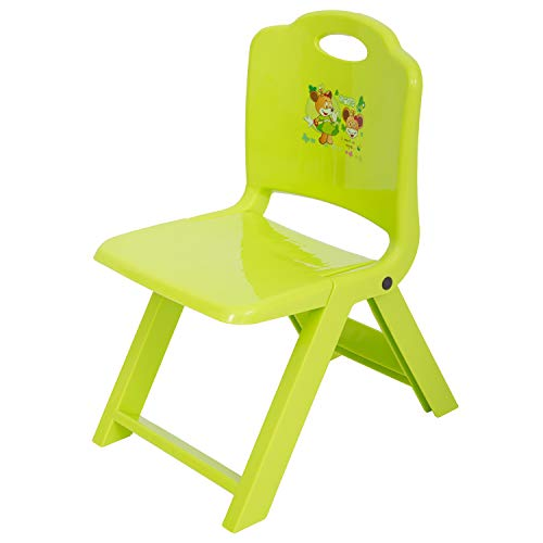 Baybee Foldable Baby Chair,Strong And Durable Plastic Chair For Kids/Plastic School Study Chair/Feeding Chair For Kids,Portable High Chair Weight Capacity 70 (Green)