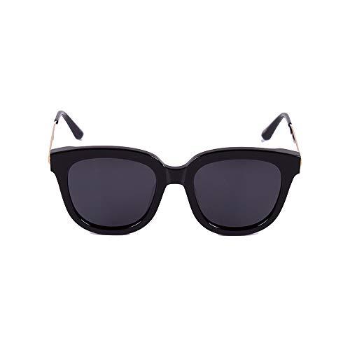 Yiph-Sunglass Sonnenbrillen Mode Womens Classic Solid Color Retro Style polarisierte Sonnenbrille gespiegelte Gläser (Farbe : Schwarz)