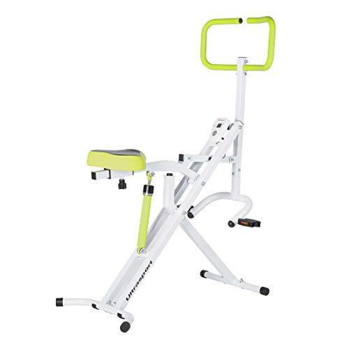 Ultrasport Hometrainer F-Rider, Fitnesstrainer, Sportgerät zum Ganzkörpertraining, idealer Cardiotrainer, belastbar bis 110 kg, Grün
