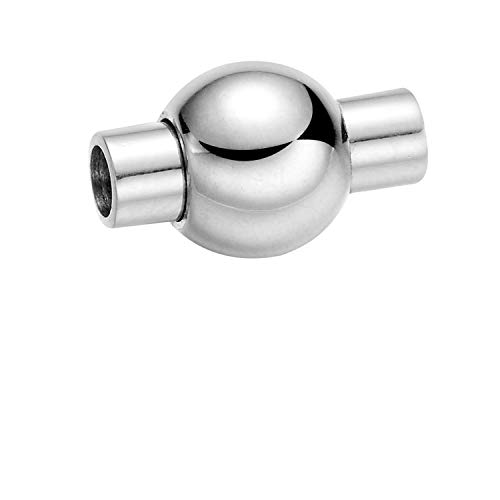 Jewelry Findings 316L Edelstahl Lochgröße 3 mm Magnet Haken Magnetverschluss Leder Armband Verschluss DIY Schmuck Herstellung (Magnet-verschluss-kit Babys Für)