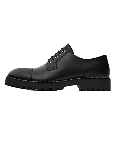 Zara Men's Black leather shoes with track soles 5014/202 (45 EU |...