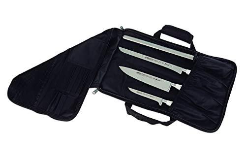 Arcos Bolsas para Cuchillos - Bolsa para Cuchillos con capacidad para 4 piezas - 100% Poliester 460 x 275 mm - Color Negro (CUCHILLOS NO INCLUIDOS)