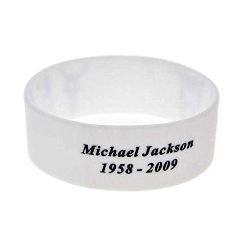 Hjyi Gummiarmbänder Wristbands Silikon Armband 1-Zoll Handgelenk Riemen Parkour Laufen cool Silikonarmband machte ich Mich Versprechen füllen Logo zweiteilig -