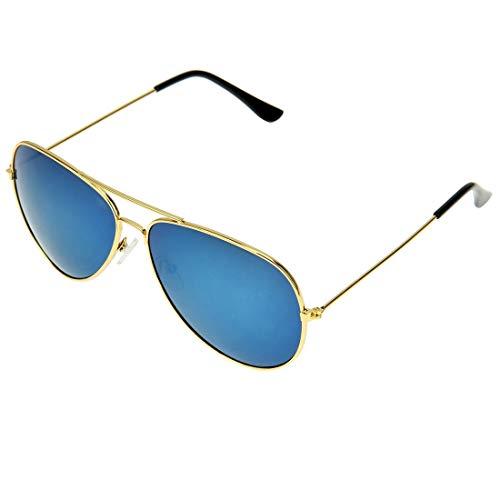 Y-WEIFENG UV400 UV-Schutz Metallrahmen AC-Objektiv Froschspiegel Brillen Sonnenbrillen (Artikelnummer : S-OG-1411L)