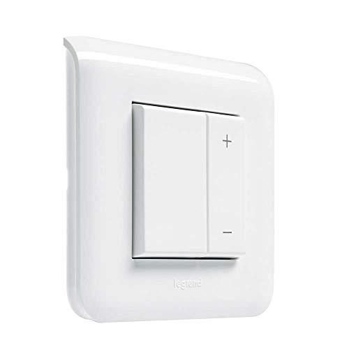 Legrand LEG78407 Mosaic – Interrupteur Variateur toutes lampes – Ecovariateur universel 2 fils sans neutre – Blanc – 078407