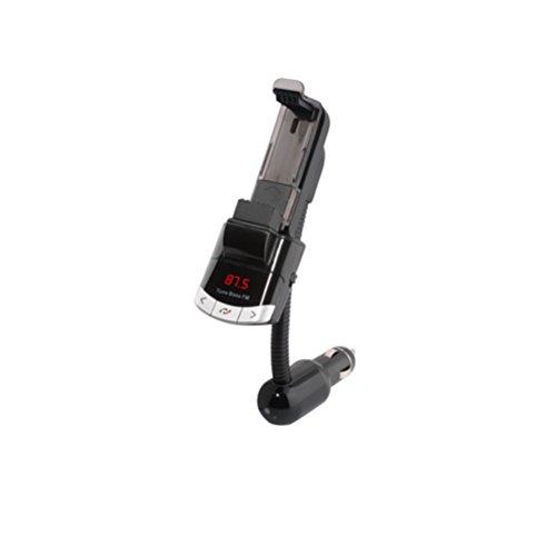 ukcoco MP3Musik-Player für Auto Bluetooth FM Transmitter Halterung für Mobiltelefon Freisprecheinrichtung (schwarz)