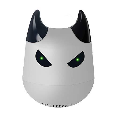 Hywot Mini Tragbarer Kleiner Teufel Drahtloser Bluetooth-Lautsprecher TWS Drahtloser Lautsprecher mit Selfie-Fernbedienungsfunktion, geeignet für Geschenk,Gray