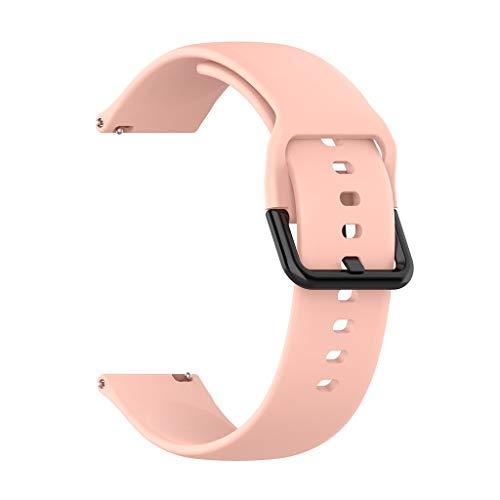 Knowin Uhrenarmband Atmungsaktiv Ersatz WeichesHandgelenk Sport Bügel Silikon Gummi Wählen Sie Farbe und Breite Ersatz Armband Uhrarmband für Samsung Galaxy Watch Active R500 Vater