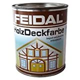 Feidal Holzdeckfarbe v. Fachhandel / Farbton taubenblau seidenglänzend / Industrie Dauerschutzfarbe / Wetterschutzfarbe, 750 ml