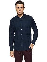 Easies Men's Polka Dot Slim Fit Casual Shirt
