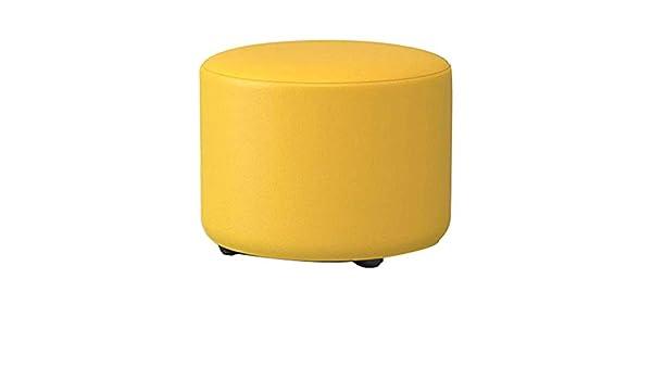Jdz tondo giallo moda scarpe sgabello sgabello in legno massello