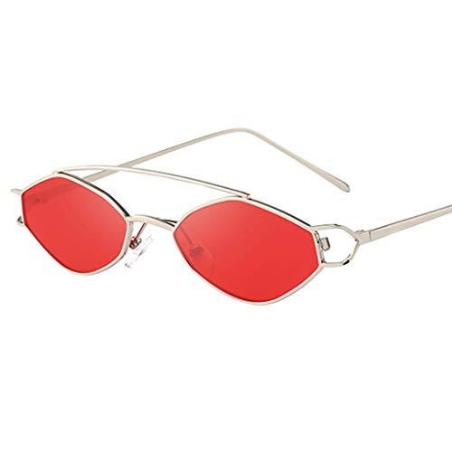 WUDUBE Mode Unisex Retro Sonnenbrille, polygonale Grenze des geometrischen Designs des Hippies Sonnenbrille Metallrahmen Shades Eyewear Reise ()