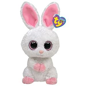 Ty 7136031 - Bunny, Carrots, Hase Beanie Boos, weiss 15 cm