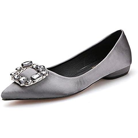 Scarpe a punta di lato superficiale fibbia strass/ primavera e autunno comfort con scarpe con suola morbida/ le scarpe le madri incinte/Scarpe di Doug