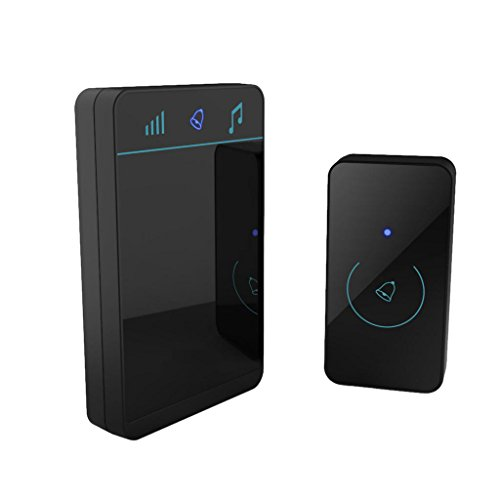 MagiDeal Timbre Inalámbrico Transmisor Intercomunicador de Voz Sistema Seguridad Casa Duradura Complimentos