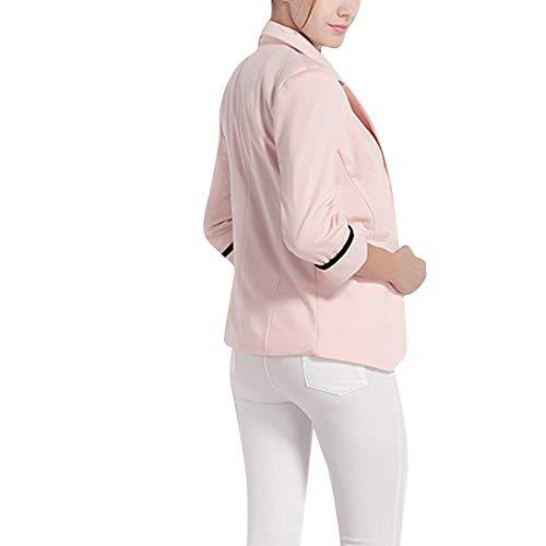 RISTHY Trajes Chaqueta Mujer Abrigo Color Sólido Tallas Grandes Blazer Mangas Largas Cardigan de Oficina...