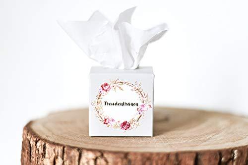 Marry & You 10 Freudentränen Gastgeschenk Boxen Verpackung für Hochzeit Taschentücher Box