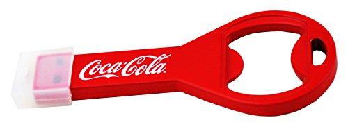 Coca Cola COKE-USBOPENBOTTLE-16-C Flaschenöffner Flash Drive Laufwerk USB 2.0-Stick 16GB rot/weiß - Flaschenöffner Coca Schlüsselanhänger Cola
