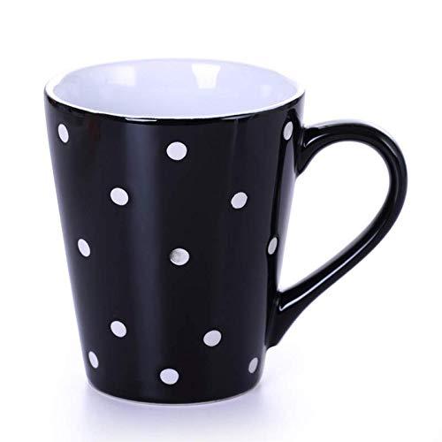 LECHENG Bump Dot niedliche Marke Tasse Büro Keramik kreative Tasse Teetasse Mikrowelle heiße Milch Tasse Größe: hoch 112mm Durchmesser 95mm - Tasse Milch Mikrowelle