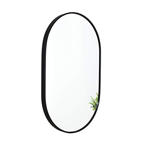 Espejo de Pared del baño Ovalada 60x90 cm Marco de aleación de Aluminio Puede ser Horizontal o Vertical...