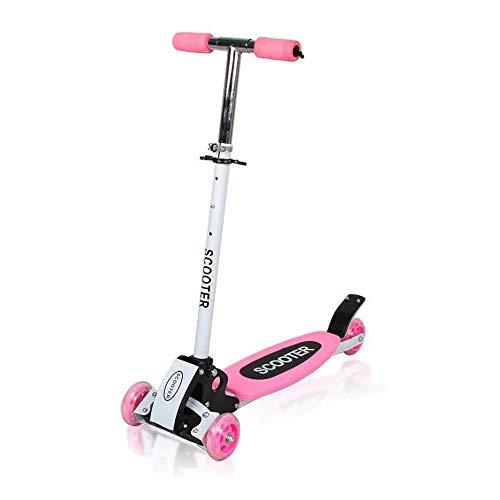 DBSCD Scooter für Kinder Kleinkind Scooter Lean 2 Turn Wheels, Step 4 Brake, Kleinkindtraining Dreirädrige Kinderfahrt für kleine Jungen & Mädchen, C