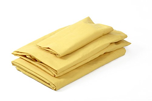 Sábanas Bajeras amarillas Ajustable Polycotton (105x190/200+30cm)