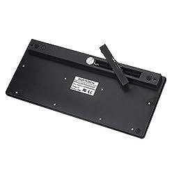 Yowablo Combo Tastatur und kabellose Maus 2,4 GHz schnurlose kabellose Tastatur und Maus für PC Desktop Laptop (Schwarz)