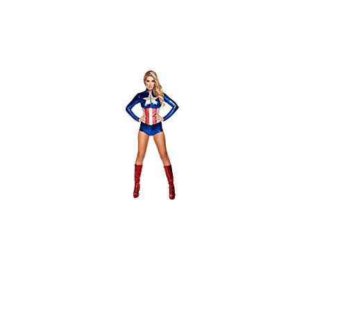 Reizvoller All American Verführerin-Kostüm (Medium (32-34))
