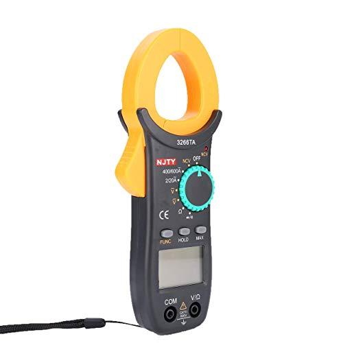Multimeter Digital Stromzange, Multimeter Autorange Strommesszange Clamp Meter Amperemeter mit NCV Funktion, Messleitung Batterie für AC/DC Spannung Strom Widerstand Kapazitanz Temperatur von XXWECO