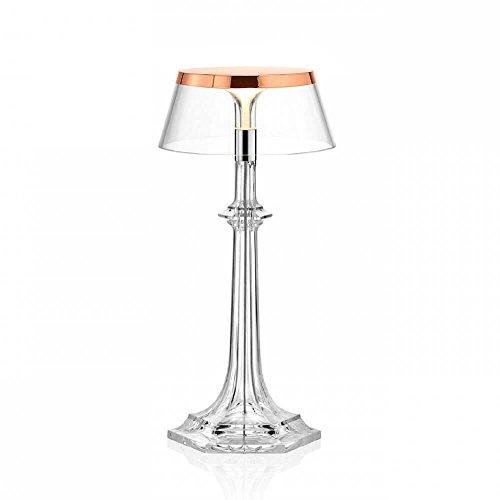 Flos Bon Jour Versailles Small Lampe de table avec structure cuivre et abat-jour transparente 220 Volt
