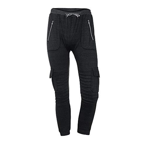 Celucke Cargohose Herren mit Kordelzug Slim Fit,Männer Jogginghose Mode Casual Freizeithosen Sport Hosen
