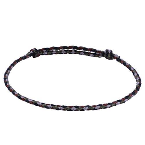 C.QUAN CHI Bunt Schnur Armbänder Gewebte Strand Armband Handgefertigt Geflochten Armband Bohemien Schmuck Frau Geschenk zum Beste Freund
