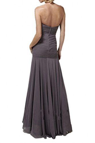 Promgirl House Damen Glmaour Mermaid Abendkleider Ballkleider Brautmutterkleider Lang mit Spitze Bolero Grau