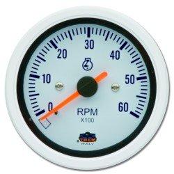 Preisvergleich Produktbild Drehzahlmesser für Benzinmotoren 0 - 6000 RPM in weiß