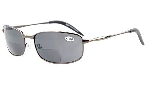 Eyekepper Metallrahmen Angeln Golf Radfahren Fliegen Outdoor Bifocal Sonnenbrille Schwarz +3.0