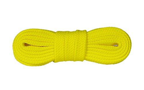 Kaps sneakers lacci, lacci per scarpe durevoli di qualit? per calzature casual, made in europe, 1 paio, molti colori e lunghezze (120 cm - 7 a 9 paia di occhielli - giallo)