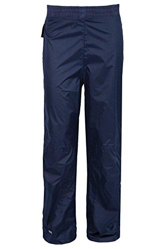 Mountain Warehouse Spray wasserdichte Kinderhose Überhose Regenhose leicht Camping Outdoor unisex jungen mädchen Marineblau 140
