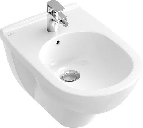 Villeroy & Boch Bidet O.novo 546000 360x560mm Hl. durchgest m. Ül. weiß c, 546000R1