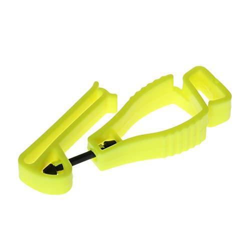 Dabixx Kunststoff-Handschuhclip, Kunststoff-Handschuh-Clip mit Schutzhalterung Sicherheits-Arbeitshandschuhe Utility Guard Clip - Gelb