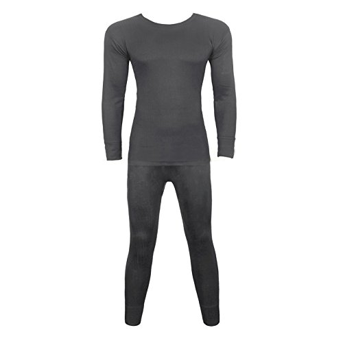 Geeney Thermal Underwear, Mens Thermal, Thermal Underwear Set Long Sleeve Vest Top and Long Johns Extreme Hot Thermals Full Set Warm Base Layer T-Shirt Bottoms Trousers Pants For Winter Camping Ski